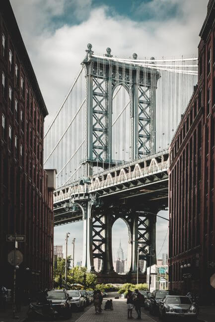 Brooklyn - Sicht auf Manhattan Bridge