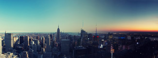 Day to Night over New York